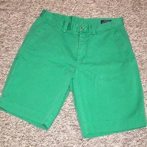 Men's Green Polo Shorts Size 30